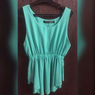 Mint Green Sleeveless Top