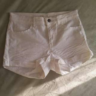 NEW H&M White Denim Shorts