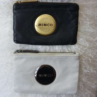 Mimco Mimpouches - Assorted Black, White, Gold