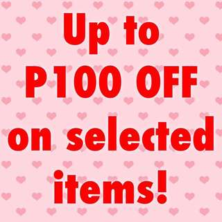 Discounted Items up to P100 OFF! 😱💕