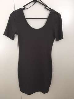 Forever 21 Charcoal Grey Bodycon Dress