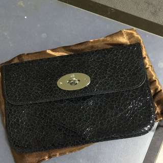BN Authentic Mulberry Clutch In Distressed Patent