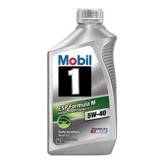 MOBIL 1 ESP Formula-M 5W40 Fully Synthetic Engine Oil SN 1QT/946ml (Made in USA)
