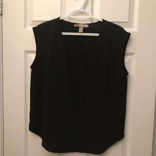 Black Flowy Shirt