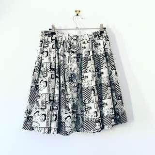 Betty Boop Comic Skirt Size 12