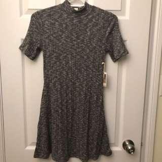 High Neck Grey Dress