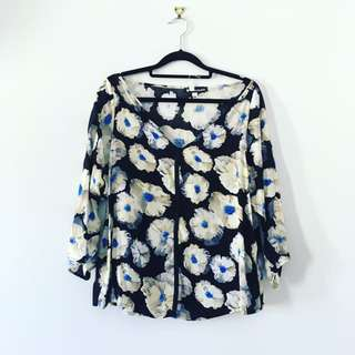 Floral Top Size 12 And 6 Available