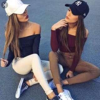 Brown Bardot Skinny Jean