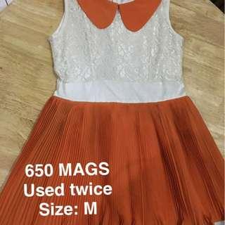 Orange MAGS dress