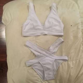 White Trendy Bathing Suit