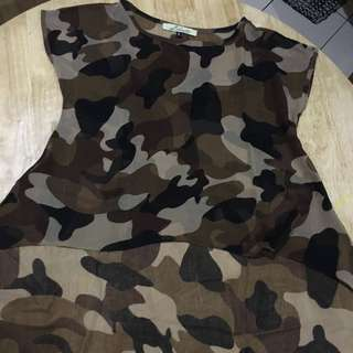 Camouflage See Through Shirt