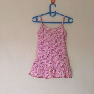 Spaghetti Strap Floral blouse(fits to 8-12yrs Old)