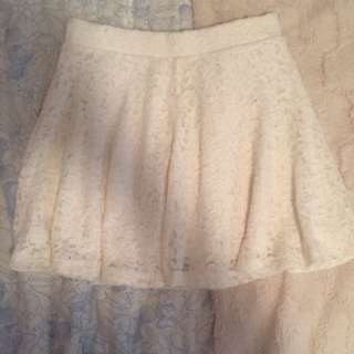 White Lace Skirt Size Small