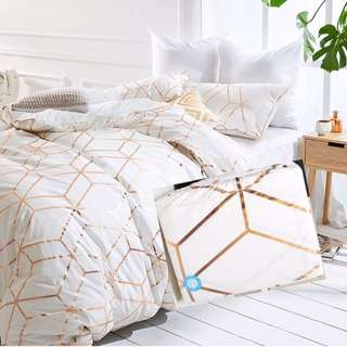 stylist quilt cover + 2 pillow cases