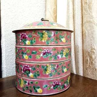 Fuschia 4 Tier Tiffin Tengkat