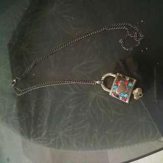 Vintage Lock Necklace