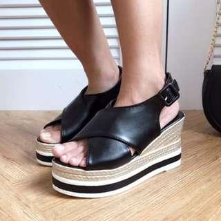 楔形魚口涼鞋