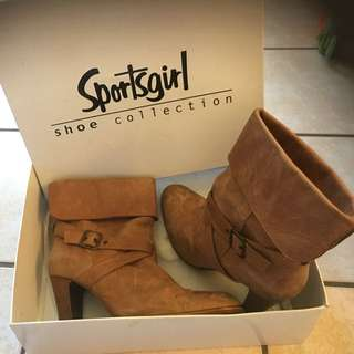 Sports girl Brand Tan Ankle Boots