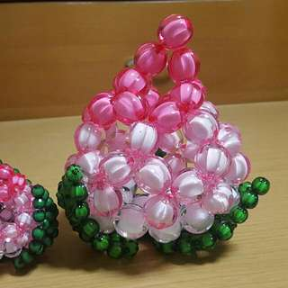 Handicraft: 1 Large Acrylic Beaded Longevity Bun
