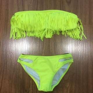 Yelow Fringe Bikini