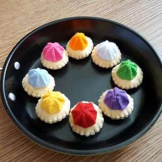 Pretend Play Felt Food-Local Gem Biscuit(8pcs)