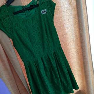 Forever21 Lace Green Dress
