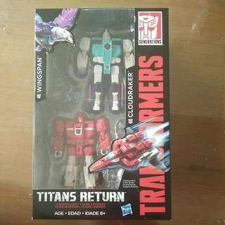 Transformers Titans Return Legend Class Windspan (Clone Brother Of Pounce) & Cloudraker (Clone Brother Of Fastlane/Fastclash)
