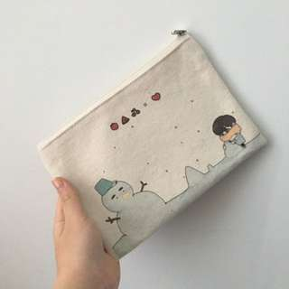 BTS Taehyung V Fansite Pencil Case