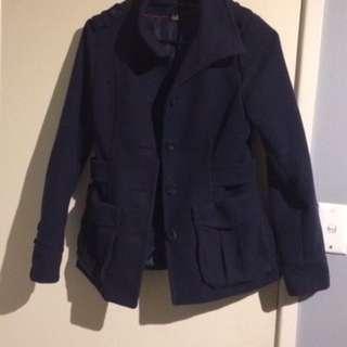 Coat- Marine Blue Size 8-10