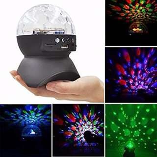 L-740 Wireless Bluetooth Speaker Disco LED Party Lights (Black and White)