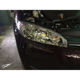Toyota Wish Headlight Tinting And Polishing Services