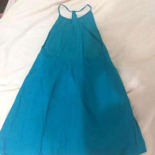全新 Roxy 美背洋裝 渡假風。土耳其藍綠色(待匯)