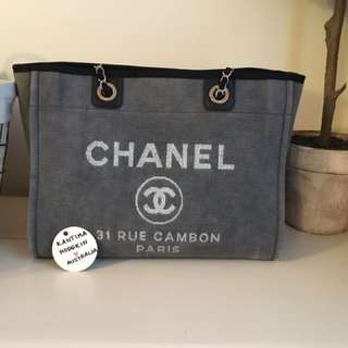 AUTHENTIC PRE-OWNED CHANEL DEAUVILLE TOTE LARGE