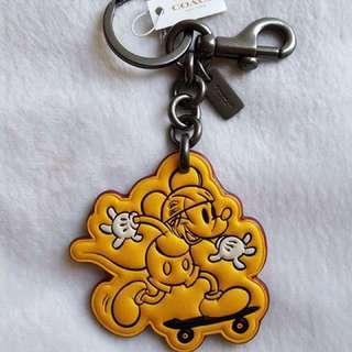 (不議價)COACH迪士尼聯名款 經典米奇雙扣環鑰匙圈