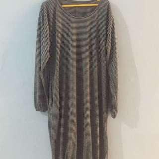 baju stripes / belang abu abu