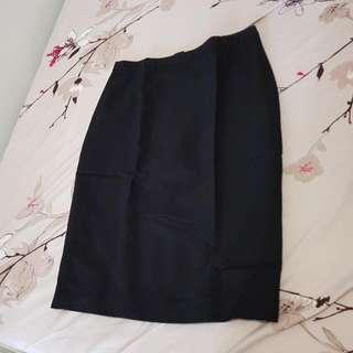 The Executive Short Black Skirt (Rok Span Hitam Selutut)