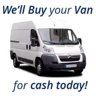 We Want to Buy Your Old Van