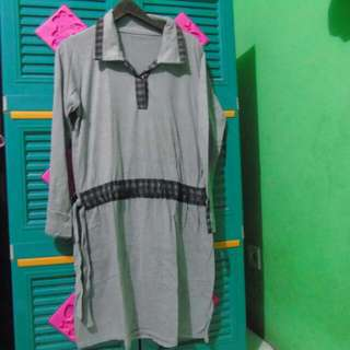 Dress Abu Abu Wanita