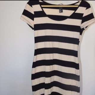 Fitted H&M Stripey Dress