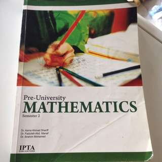 Pre-U Mathematics sem 2