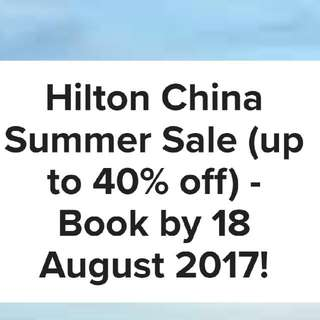 HilTom Group Hotel Summer Sale