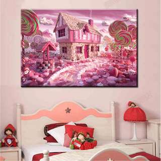 DIY [Candy House] Full Square Diamonds Painting / Cross Stitch Craft / Diamond Mosaic (Size: 40x30cm)