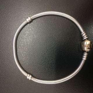 Authentic 14ct Gold Clasp Pandora Bracelet