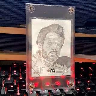 Topps Star Wares Rogue One Saw Gerrera Sketch Card By Robert Hendrickson 1/1