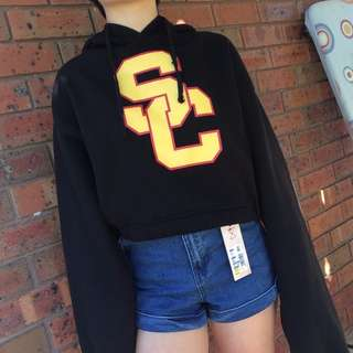 sz 6-8 University of South California Black Hoodie