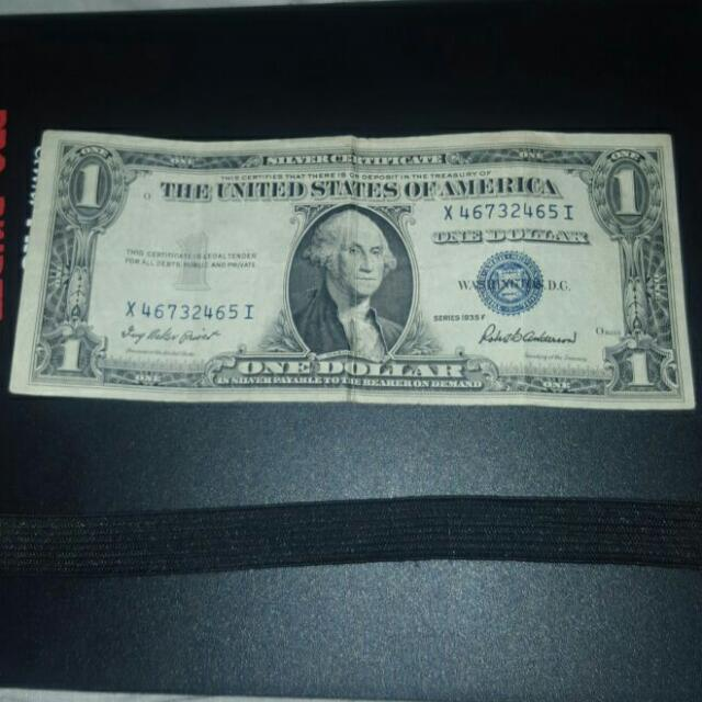 1935 DOLLAR BILL VINTAGE AND RARE BLUE STAMP On Carousell