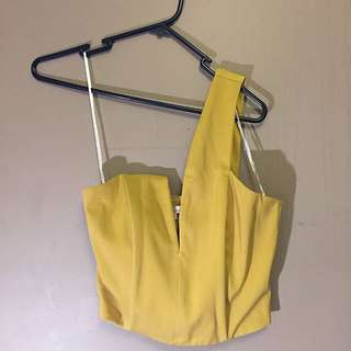 Yellow Party Top - Size 8