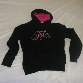 Black and pink Fila Hoodie