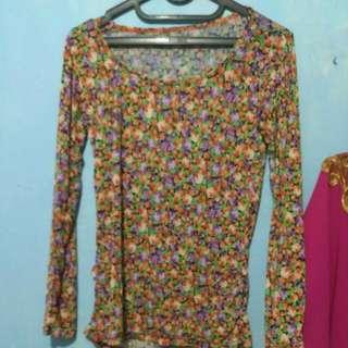 Baju Lengan Panjang Flower