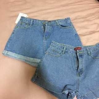 🚚 反折牛仔短褲